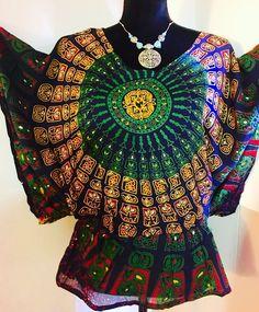 Women Kaftan Caftan Tunic Kurti Hype Top Rayon Blue Printed Free Size  | eBay