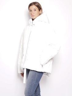 0565a08e5ab ESSENTIEL Piumino oversize - Rainproof Down Jacket Bianco Trymeshop.it