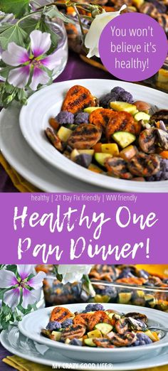 This healthy one pan dinner is a dream. It's an easy dinner recipe. When it comes to healthy casserole recipes this one takes the cake, a healthy one pan dinner means just that.only one pan to clean up and a complete dinner recipe ready in a flash! Healthy Casserole Recipes, Healthy Dinner Recipes, Ww Recipes, Family Recipes, Lunch Recipes, One Pan Dinner Recipes, 21 Day Fix Meal Plan, Pasta, Recipe Ready