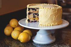 Lemon Blueberry....yummo! Lemon Curd Filling, Swiss Meringue Buttercream, Blueberry Cake, How Sweet Eats, Sweet Recipes, Cake Recipes, Fun Recipes, Cupcake Cakes, Delicious Desserts