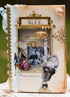 Marie Antoinette - Book Sculpture - Altered Book art assemblage. $119.00, via Etsy.