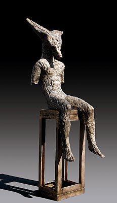 Magdalena Abakanowicz - JASNAL  2005, bronze  226 x 58 x 90 cm