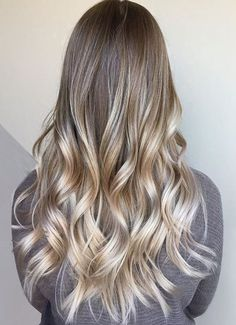 Icy Blonde Hairstyles Ideas for Long length Hair 2018 Balayage Ombre