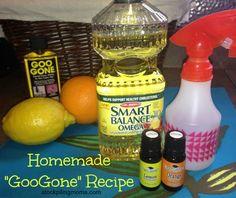 Homemade GooGone Recipe http://www.stockpilingmoms.com/2013/03/homemade-googone-recipe/