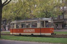 Ein Fahrschulwagen war am 8.5.1989 auf der Berliner Straße in Ostberlin unterwegs.