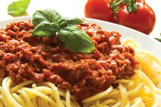 How to make bolognese sauce without meat. Bolognese sauce is used very frequently to accompany pasta. It is a sauce with a thick consistency and a characteristic red colour produced by. Healthy Gluten Free Recipes, Fodmap Recipes, Diet Recipes, Cooking Recipes, Cooking Tips, Italian Dishes, Italian Recipes, Italian Pasta, Healthy Spaghetti Bolognese
