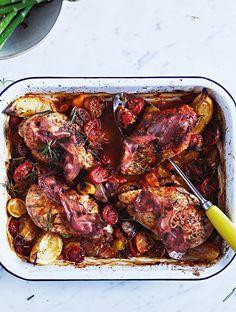 Jamie's Easy Chicken Tray-bake Recipe - really really yummy. I'm full but I still want more!