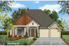 Chandler - elevation D by Wilshire Homes at Pecan Crossing, New Braunfels