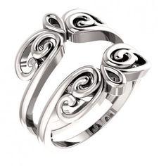 14kt White Gold Round Diamond Ring Guard Wrap Enhancer... #gold #diamonds #ringguard #wrap #enhancer #fashion #jewelery #love #gift #ringjacket #engagement #wedding #bridal #engaged #whitegold #yellowgold #online #shopping #jewelry #pintrest #follow #richmondgoldanddiamonds