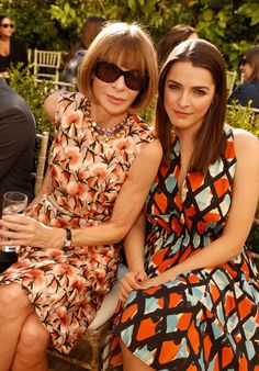 Anna Wintour and Bee Shaffer at the CFDA/Vogue Fashion Fund event in Los Angeles.