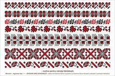 Semne Cusute: romanian traditional motifs - MOLDOVA - Iasi, sat:...