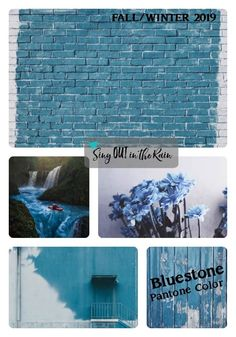 Bluestone is a soft blue and a color of quiet resolve which is designated by Pantone as one of the Fall/Winter 2019 Color Trends.  #pantone #colortrents #fall2019 #bluestone