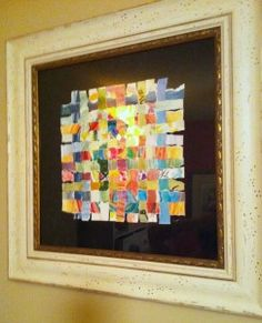 weave your child's artwork - What a neat way to re-use your kids artwork!