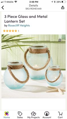 Summer Mantle Decor, Lantern Set, Metal Lanterns, Straw Bag, Glass, Projects, Log Projects, Blue Prints, Drinkware