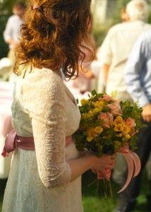 Exquisite Regency Wedding Gown - Sleeve Detail