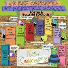 IB PYP Monster Poster & Bulletin Board Set for US Paper from Celebrate Learning Designs on TeachersNotebook.com (28 pages)  - A fun & colorful way to create a key concepts bulletin board in your IB PYP classroom!