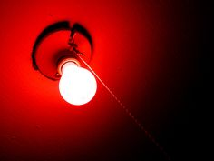 Instead of a black light, I liked putting a red light bulb in my ceiling light…