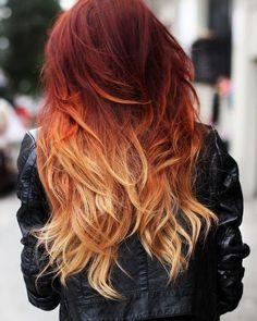Нельзя делать мелирование на волосы, окрашенные рыжей хной