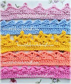 Crochet Borders – Top 5 Free Patterns by Jane Green of Beautiful Crochet Stuff Patterns For Crohet Borders patterns for crohet borders ravelry around the corner crochet borders patterns, free crochet edging patterns patterns for crohet borders, patterns Crochet Edging Patterns Free, Crochet Boarders, Crochet Lace Edging, Free Crochet, Crochet Stitches, Crochet Hooks, Crochet Edgings, Simple Crochet, Crochet Trim