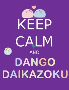 Only Key could create such a deep meaning to a simple object such as riceballs. Dango Daikazoku.