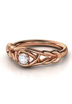 Love knot diamond ring