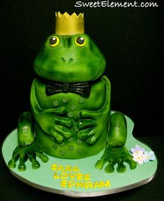 Frog Prince Groom's Cake | by SweetElement