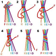 Making friendship bracelet - Click image to find more DIY & Crafts Pinterest pins