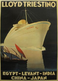 30's cruise ship poster