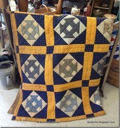 Antique quilt, photo by Bonnie Hunter at Antiques on Main, West Jefferson NC Old Quilts, Antique Quilts, Small Quilts, Vintage Quilts, Scrappy Quilts, Bonnie Hunter, Primitive Quilts, Primitive Crafts, 9 Patch Quilt