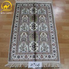 Hand knotted silk rug # Rug No.: P3103# Quality: 180L (225kpsi) # Size: 2.5x4ft (76x122cm) # Material: 100% Silk # wholesale Price: $350/piece # If you have any interests, please email to sales@bosicarpets... handmadesilkcarpet#handmaderug#silkrug#silkcarpet#carpet#persiancarpet#persianrugs#rug#handmaderug#handknottedrug#iranrug#chineserug#turkeyrug#turkishcarpets#silkcarpets#silk#floorrug#hali#ipekhai#redrug#bluecarpet#turleycarpet