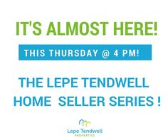 We are extremely excited to announce that this Thursday at 4 PM we will be launching our very first episode to our 6 season #LepeTendwell Home Seller Series! We are going to give you all of the tools and answer all of your questions on the home selling process over the next few months!  😃🏡💰 #sandiego #LepeTendwellTips #homeseller #realestate