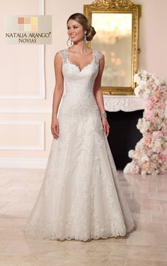 Stunning Stella York collection at Bridal Haven, Cheshire. Stella York dresses are beautiful, glamorous & affordable. Stella York 2015 is an enchanting coll 2016 Wedding Dresses, Wedding Attire, Bridal Dresses, Wedding Gowns, Bridesmaid Dresses, Lace Wedding, Empire Wedding Dresses, Dresses 2016, Modest Wedding