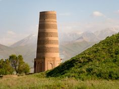 Travel to Burana Tower in Kyrgyzstan & get to know the history of the lost city Balasaghun that once stood on the Silk Road. Places To Travel, Places To See, Places Ive Been, Travel Vlog, Top Place, Lost City, Central Asia, Burj Khalifa, Tower