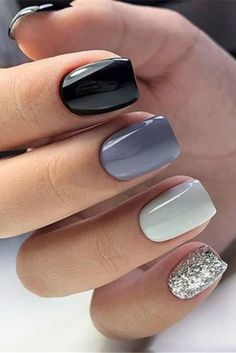 short gel nail designs Do you need the latest gel short nails inspiration in 2020 We have the abundant and popular short nail ideas in 2020 for you. The 36 simple and unique short nail ideas will bring new inspiration to your nail design. Short Gel Nails, Short Nails Art, Simple Gel Nails, Grey Gel Nails, Pretty Short Nails, Short Nail Manicure, Stylish Nails, Trendy Nails, Cute Acrylic Nails