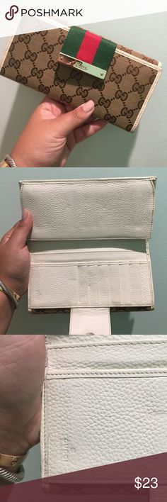 Wallet High quality wallet. What does high quality mean? Second under from being real. Great condition, only flaws shown in second photo. Small gift with purchase Bags Wallets