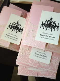 50 Pearls and Lace Chandelier Wedding Invitations - 15th, 16th, 18th, 21st, 30th, 40th, 50th, 60th, Wedding on Etsy, $325.00