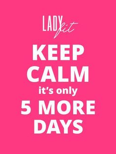 Het aftellen is begonnen. Nog 5 dagen en Ladyfit.be komt online, dé site voor…
