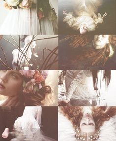 """vibiasabina:  """" queens, witches, and warriors → ophelia  QUEEN GERTRUDE  """" There is a willow grows aslant a brook,  That shows his hoar leaves in the glassy stream;  There with fantastic garlands did she come  Of crow-flowers, nettles, daisies, and long..."""