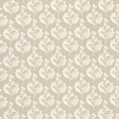 Chiltern Floral Linen/Cotton Fabric Natural