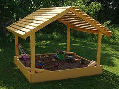 Plans to Build A 6' x 6' Covered Sandbox Sand Box Playground Equipment   eBay