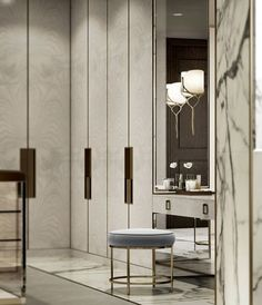 New luxury closet designs dressing rooms ideas Interior Design Minimalist, Luxury Interior Design, Home Interior, Interior Decorating, Interior Detailing, Marble Interior, Lobby Interior, Interior Lighting, Walk In Closet Design