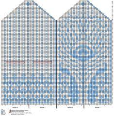 Жаккардовые узоры для варежек спицами (схемы) Crochet Mittens Free Pattern, Knit Mittens, Crochet Chart, Knitted Gloves, Knitting Charts, Hand Knitting, Knitting Patterns, Crochet Patterns, Peacock Pattern