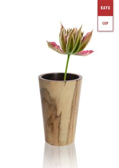 Three Cups of White Grain Wooden ToothBrush  Vase  by KAYUcraft, $36.00