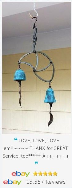 Looking for a perfect wedding or anniversary gift for a couple that appreciates works of art? Our Cast Bronze vintage Harmony Hollow Wedding Double Bell Wind Chime was designed with each bell representing a unique person and sound; combined they are harmoniously lovely in unison.