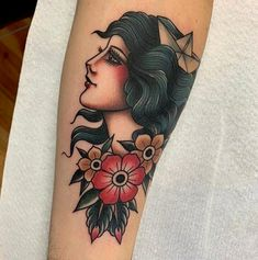 neo traditional pin up girl tattoos / pin up tattoos neo traditional & neo traditional pin up girl tattoos Tatto Old, Old Tattoos, Pin Up Tattoos, Life Tattoos, Body Art Tattoos, Tattoos For Guys, Sleeve Tattoos, Tattoos For Women, Traditional Gypsy Tattoos