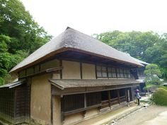 Kawaski house from the edo period at the National Japanese Museum. thatched roof