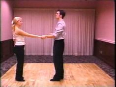 West Coast Swing Dance Workshop, Jordan and Tatiana in the younger days