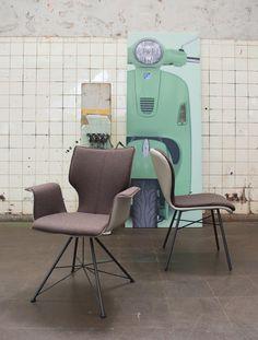 Edle Stühle esstisch eiche stahl massiv rechteckig graue möbel rustikaler