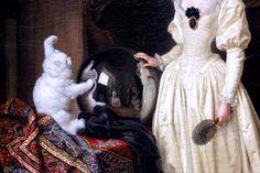 Jean Honoré Fragonard. 1732-1806. Paris. Le chat angora. Cologne.  Wallraf Richartz Museum.