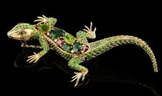 Jeweled lizard ring by Master Exclusive Izhevsk Jewelry House, Russia